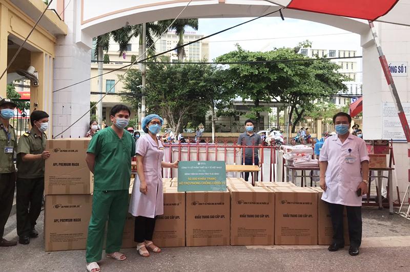 50.000 khẩu trang y tế đã được JVC trao tặng cho Bệnh viện đa khoa tỉnh Thái Bình.