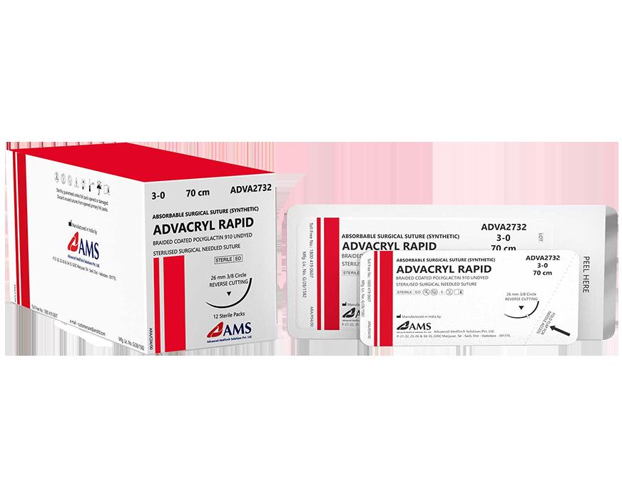 Chỉ phẫu thuật ADVACRYL RAPID Polyglactin-910 tự tiêu nhanh